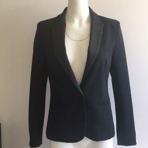 Zara black tuxedo collar blazer medium L4